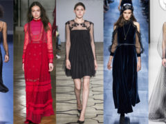 Модные вечерние платья 2018